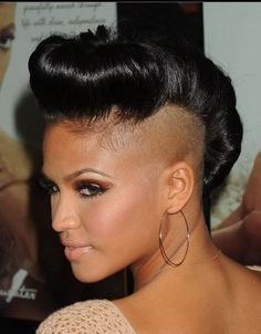 How to Style Half Shaved Hairstyle Like Cassie  http://blog.divabelle.com/how-to-style-half-shaved-hairstyle-like-cassie/#