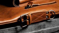 Hard Graft's modular 2unfold tanned leather laptop + tablet bag www.trustmedesigner.com