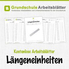 Kostenlose Arbeitsblätter und Unterrichtsmaterial zum Thema Längeneinheiten im Mathe-Unterricht in der Grundschule.