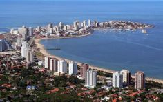 Vista aerea de la Peninsula, Punta del Este, departamento de Maldonado,Uruguay