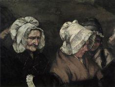 Detalle de la obra; ' Un enterrement à Ornans' Gustave Courbet