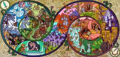 The Hobbit stained glass--LOVE THIS!!!