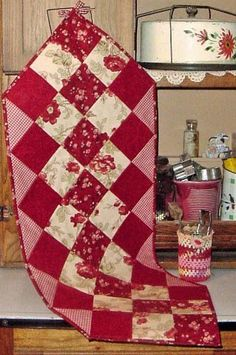 """14-1/2"""" x 40"""" Table Runner Pattern #Q110 This is one of a complete series of patterns, each featuring the same sewing style, as well as t..."""
