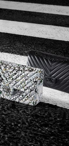 Floral Tweed Chevron Quilting Classic Bag | Chanel
