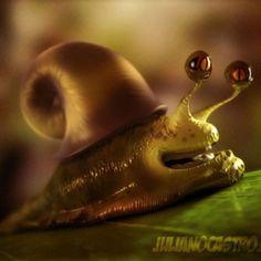 3D Art: Cartoon Snail