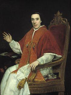 Papa Pio VII- Barnaba Niccolò Maria Luigi  Chiaramonti (Cesena, 14 agosto 1742 – Roma, 20 agosto 1823), fu papa dall'anno 1800 alla morte; apparteneva all'ordine benedettino.