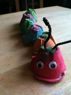 my scraps | Egg Carton Caterpillar #kids #crafts