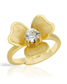 Hand made blossoming ring. Pilgrim, Danish Design, Jewerly, Gold Rings, Flower Rings, Bling, Rose Gold, Crystals, Handmade