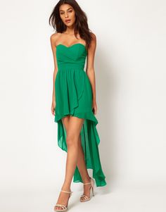 Green mullet dress -- this is a cute bridesmaid option, but I would like the color lighter
