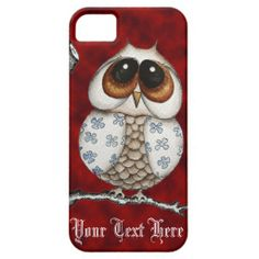 Floral Owl Red iPhone 5 Case