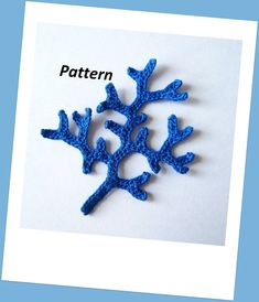 Coral Branch Crochet Pattern - just freeform slip stitch, chaining off as you see fit.