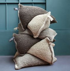 super-cute giant wool pillows
