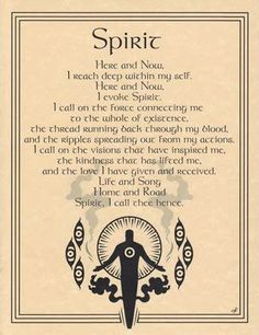 SPIRIT EVOCATION - POSTER  Wicca Pagan Witch Witchcraft Goth BOOK OF SHADOWS  picclick.com