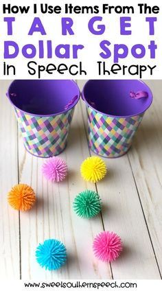 Great ideas for using the Target Dollar Spot items in speech therapy activities. - - Great ideas for using the Target Dollar Spot items in speech therapy activities. Music Therapy Activities, Preschool Speech Therapy, Speech Language Therapy, Speech Therapy Activities, Speech And Language, Preschool Activities, Articulation Therapy, Speech Therapy Organization, Articulation Activities