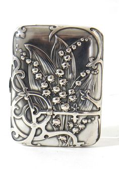 Ca. 1897, France Beautiful cigarette case made of silver. Designed and made by…