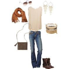 """My casual style - Stella & Dot"" created by   www.www.facebook.com/JewelryStylistJen"