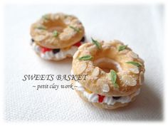 Miniature donuts filled with cream