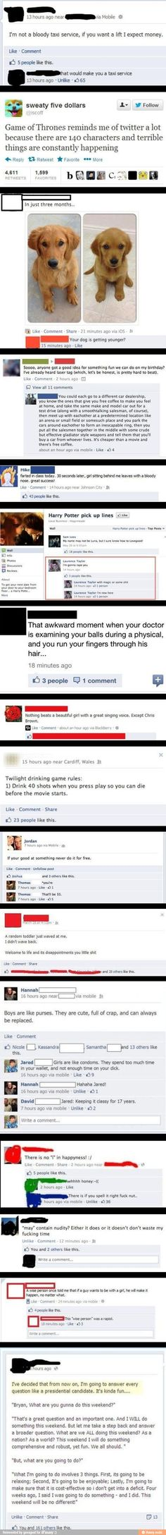 Facebook.... the last one is the best!