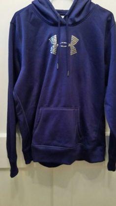 c5bff74696ab Women s Under Armour Blue 100% Polyester Hoodie Sweatshirt XL  fashion   clothing  shoes