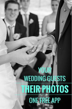 Your wedding guests will take A LOT of photos? Ever think how you will get them all?  WedPics - The #1 Photo App For Weddings...it's FREE!