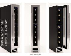 La cave à vin Dunavox DX-7.20SSK/DP, d'une capacité de 7 bouteilles, est à encastrer sous un plan de travail. Les dimensions ont été étudiées pour s'insérer dans la niche habituellement utilisée comme placard à épices : Hauteur 825 mm / Largeur 148 mm / Profondeur 525 mm. En savoir + : https://dunavox.com/fr/product/dunavox-dx-720sskdp