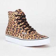 VANS Leopard Authentic Hi Womens Shoes #vans #print #leopard #hitop