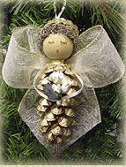 pine cone ornaments homemade | Pinecone Ornaments