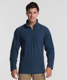 The Charles River Apparel 9676 Men's Basin Fleece Long Sleeve Shirt is available in Men's Sizes S-3XL. It can be purchased in your choice of the following two colors: 177 Blue Ink and 209 Ash Grey.