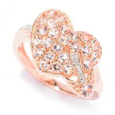<li>Morganite and diamond ring</li> <li>Sterling silver jewelry</li> <li><a href='http://www.overstock.com/downloads/pdf/2010_RingSizing.pdf'><span class='links'>Click here for ring sizing guide</span></a></li>