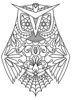 Dia de los Muertos Owl design (UTH6338) from UrbanThreads.com