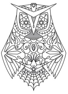 Dia de los Muertos Owl | Urban Threads: Unique and Awesome Embroidery Designs