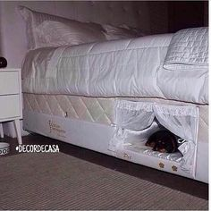 Funny pictures about Bed With A Place For Your Dog. Oh, and cool pics about Bed With A Place For Your Dog. Also, Bed With A Place For Your Dog photos. My New Room, My Room, Built In Dog Bed, Wake Up With You, Funny Animals, Cute Animals, Pet Beds, Bunk Beds, Doggie Beds