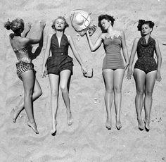 Vintage bathing suit playsuit