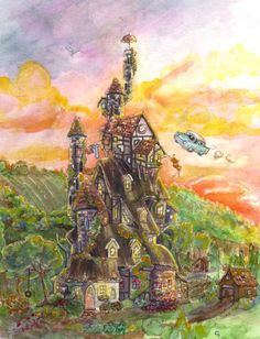Image result for ford anglia harry potter painting