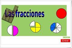 """""""Las fracciones"""" (Aplicación interactiva de Matemáticas) Tech Logos, Chart, School, Club, Ideas, Equivalent Fractions, Maths Area, Interactive Activities, Blue Prints"""