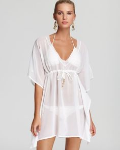 Echo Solid Silky Butterfly Cover Up