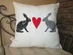 Bunny Love Cushion Bunnies, Cushions, Throw Pillows, Rabbits, Cushion, Decorative Pillows, Decor Pillows, Bunny, Rabbit