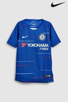 Boys Nike Chelsea FC Older Kids 2018 19 Stadium Football Jersey - Blue 159896aa9