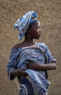 thestylishgypsy:  Girl in Sanga, Dogon Country, Mali by Anthony Pappone.