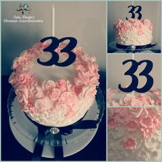 Cake rose black birthday
