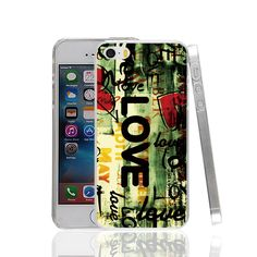 18270 love text hearts hard transparent Cover Case for Apple iPhone 4 4S 5 5S 5C SE 6 6S Plus