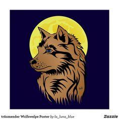 träumender Wolfswelpe Poster Lion Sculpture, Statue, Art, La Luna, Wolves, Artworks, Animals, Photo Illustration, Art Background