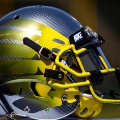 Oregon Ducks helmets
