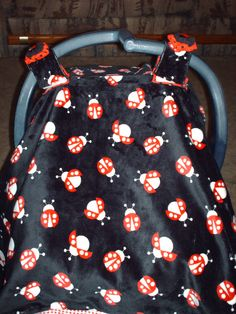 Baby Carrier Cover/Tent and Carrier Blanket Set Black by @Snugabugz1 $54.98 # & Ladybug Fleece Blanket With Crochet Border | Ladybugs Etsy and ...