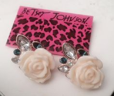 """NOW ON SALE UP TOO 75% OFF WITH FREE SHIPPING  A Betsey Johnson Lovely and Delicate Flower Earring Studs + Bonus Gift When """"BUYNOW"""". Starting at $17  GO VISIT MY STORE FOR MY NEW ITEMS NOW ON SALE !!! AT (COPY AND PASTE IT ON YOUR URL BAR)  http://tophatter.com/catalogs/search?utf8=%E2%9C%93&q=MAKEUP_BY_YESENIAA  #SALE #TOPHATTER #JEWELRY, #MAKEUP, #LINGERIE #PHONECASES #FREESHIPPING #MAYBELLINE #REVLON #MAC #COVERGIRL #TOOFACE #URBANDDECAY #FACEBOOK #TWITTER #INSTAGRAM #BETSYJOHNSON"""