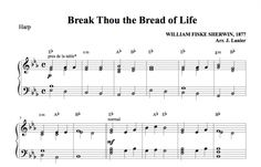 $1.50 Harp Music: Break Thou the Bread of Life