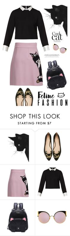 """""""Untitled #161"""" by rose102 ❤ liked on Polyvore featuring Kate Spade, MSGM, Maje and Fendi"""
