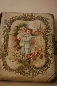 Shabby Antique Victorian Celluloid Photo Album with by mollyarnold, $40.00