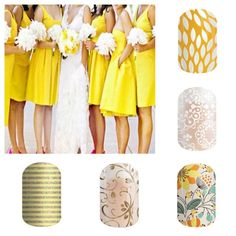 Spring/Summer 2015 From top to bottom:  Sunny Lotus::Whisper::Sweet Whimsy::Gold Floral::Bling Bling