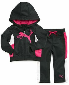 Puma Baby Set, Baby Girls 2-Piece Color-Blocked Jacket and Pants - Kids Baby Girl (0-24 months) - Macy's